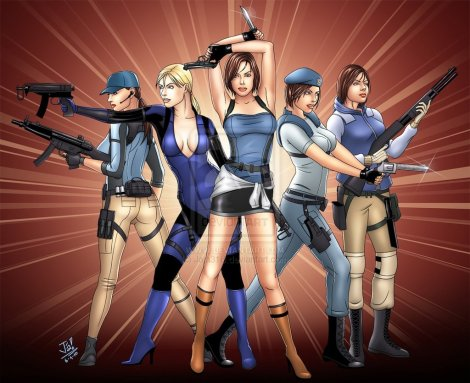 http://anii-ki.deviantart.com/art/the-many-looks-of-Jill-Valentine-166424870